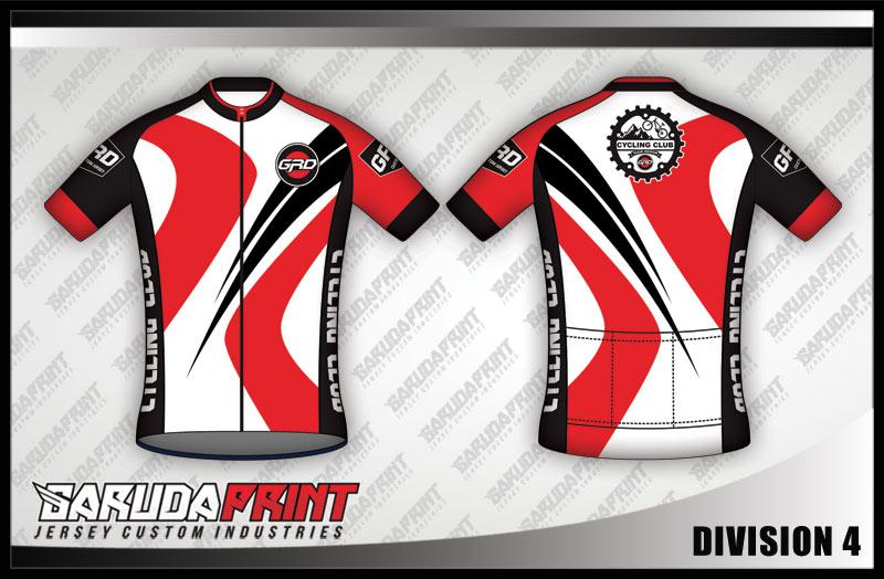 desain baju sepeda warna merah