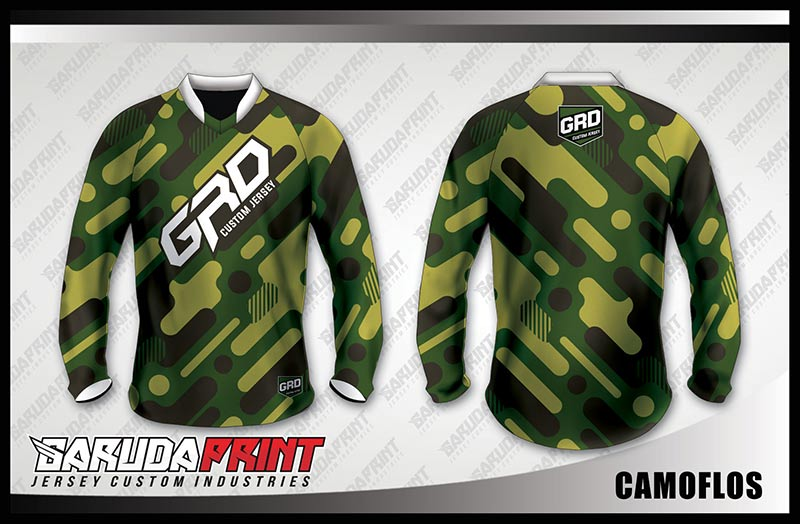 desain jersey sepeda donhill motif army