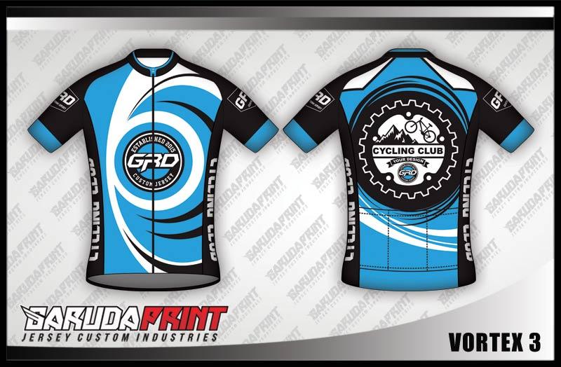 Desain Kaos Sepeda Gowes Vortex Paling Keren biru muda