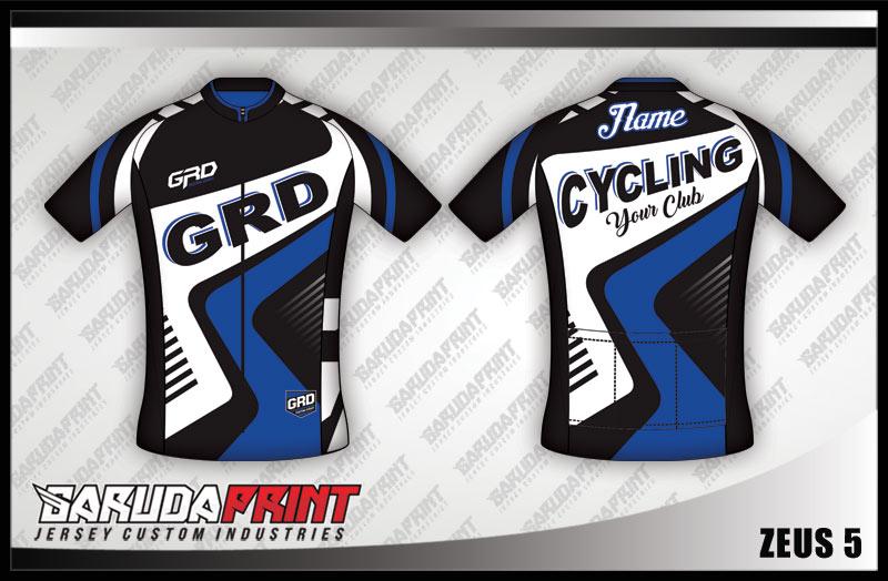 Desain Kaos Sepeda Gowes Zeus biru hitam Super Keren