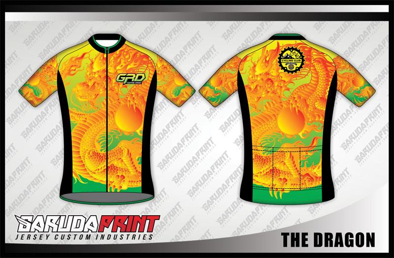 Desain Kaos Sepeda Gowes Code The-Dragon Bergaya Absolut