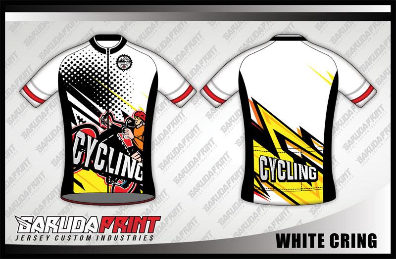 Desain Kaos Sepeda Gowes Code White-Cring Motif Zig Zag
