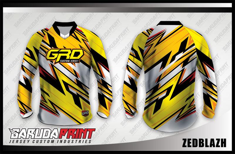 Desain Kaos Sepeda Gunung Code Zedblazh Kombinasi Warna Cerah