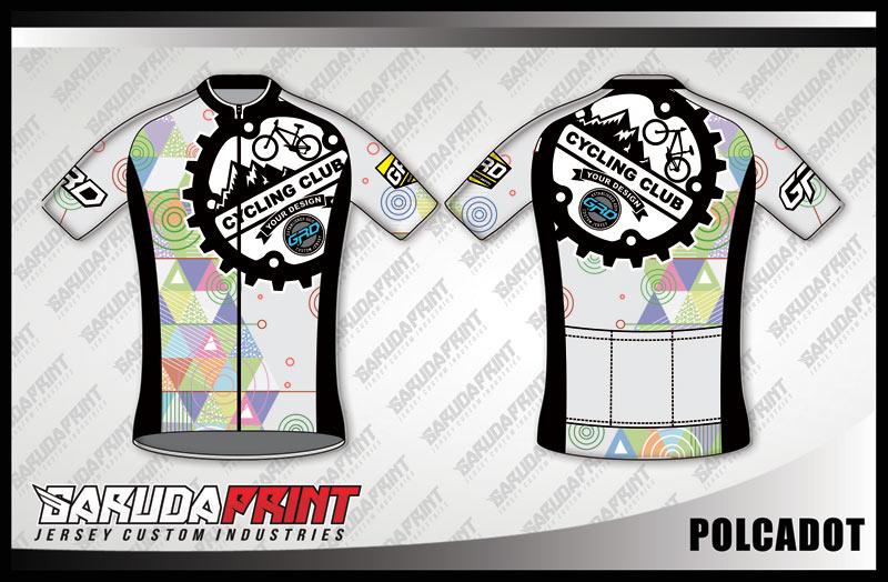 Desain Kaos Sepeda Gowes dan Road Bike Code Polcadot Super Gagah