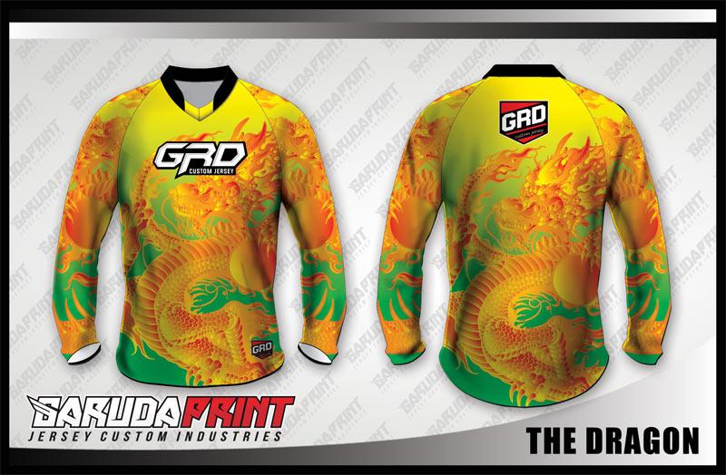 Desain Baju Sepeda Gunung Code The-Dragon Warna Kuning