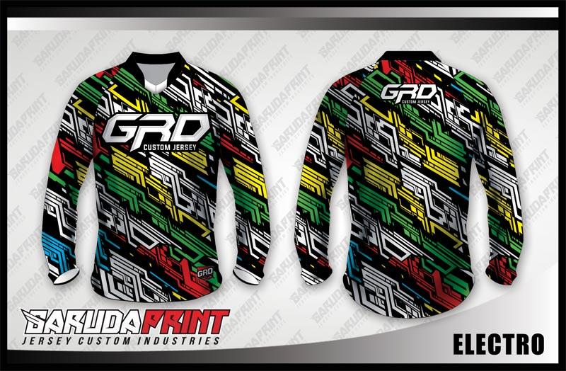 Desain Baju Sepeda MTB Code Electro Lebih Cool