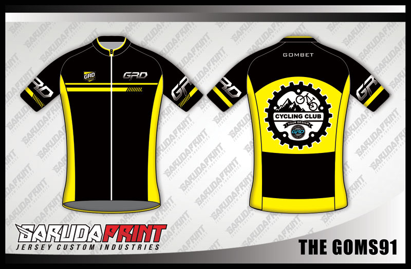 Desain Jersey Sepeda Gowes Kode The-Goms91 Nampak Trendy