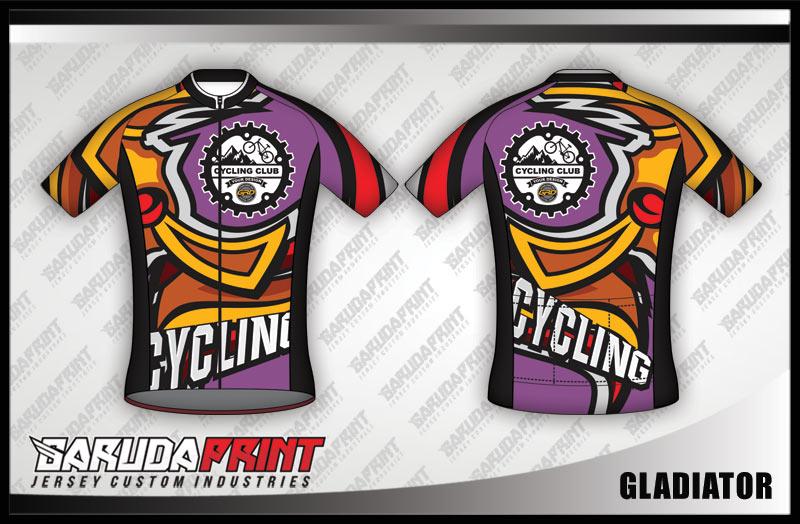 Desain Jersey Sepeda Road Bike Code Gladiator Nampak Trendy
