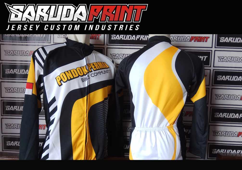 Jasa Bikin Baju Sepeda Desain Custom Lengan Pendek
