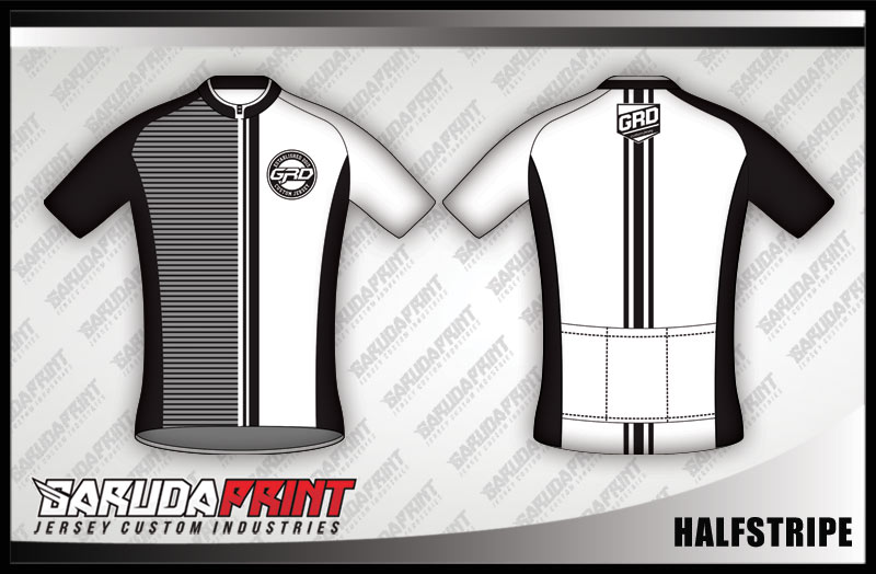 desain jersey sepeda gowes HALFSTRIPE