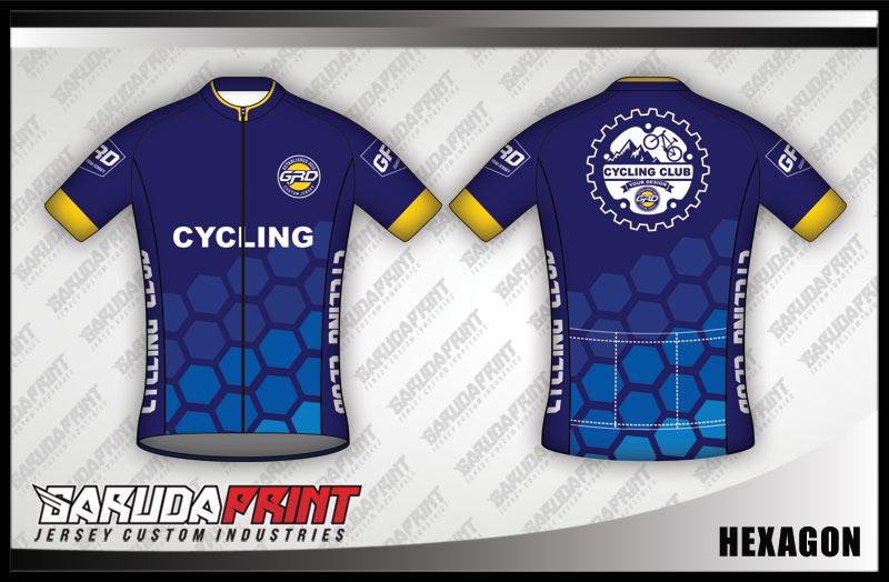 desain jersey sepeda HEXAGON