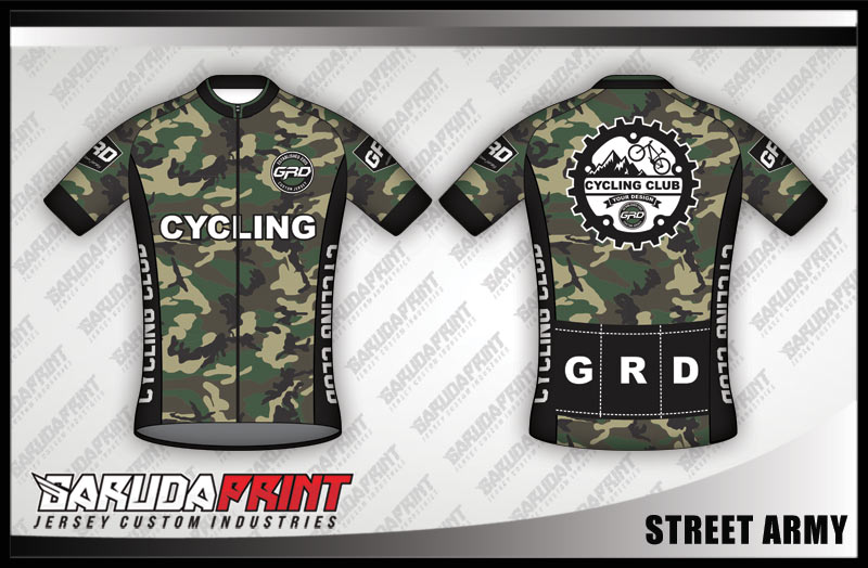 Desain Baju Sepeda Gowes Street-Army, Keren dan Gagah