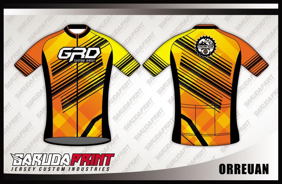 Desain Baju Sepeda Road Bike Code Orreuan Warna Kuning Hitam Yang Elegan