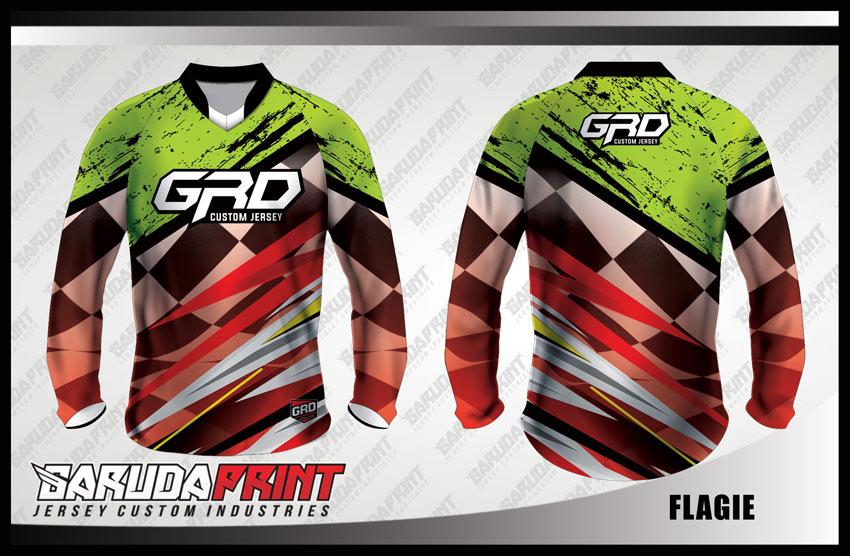 Desain Baju Sepeda Downhill Code Flagie Motif Yang Trendy Dan Kekinian