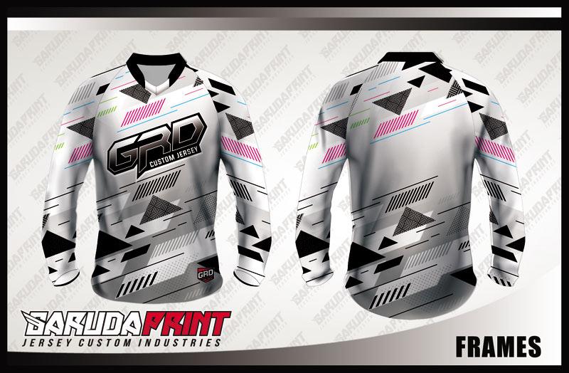 Desain Baju Sepeda BMX Code Frames Tampil Lebih Percaya Diri