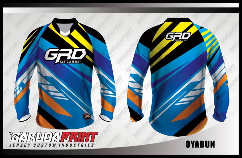 Desain Jersey Sepeda Gunung Code Oyabun Motif Zig Zag Yang Dinamis