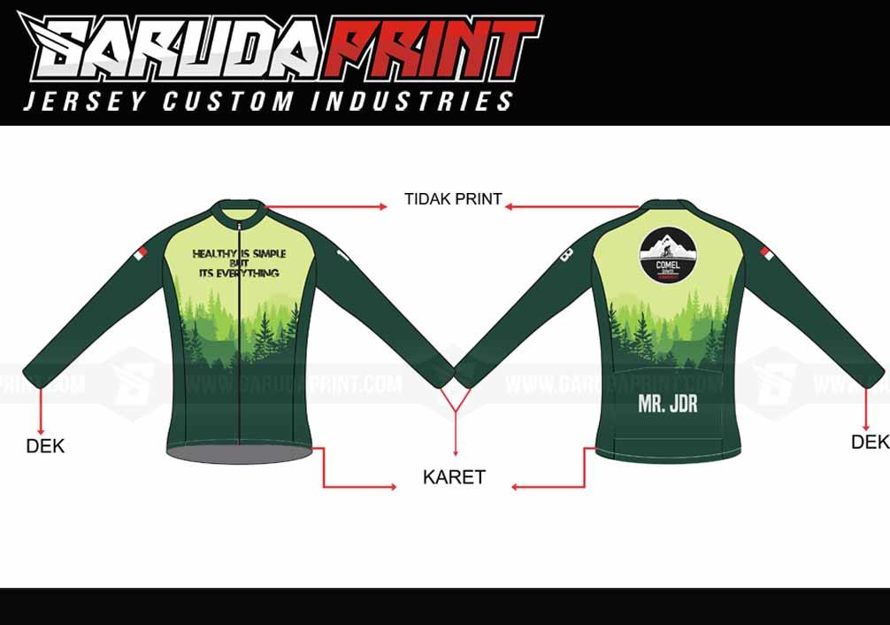 Jasa Bikin Baju Sepeda Road Bike Full Printing Di Kota Singaparna