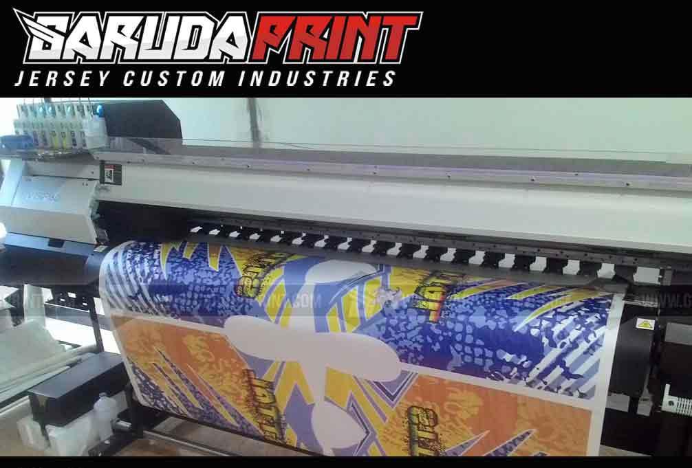 Baju Sepeda Printing Warna Biru Hitam Berkharisma