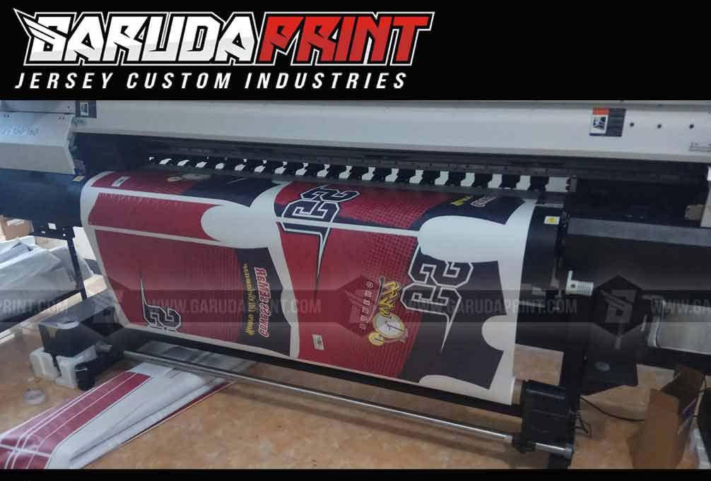 Jersey Sepeda Printing Motif Zig Zag Warna Merah Hitam