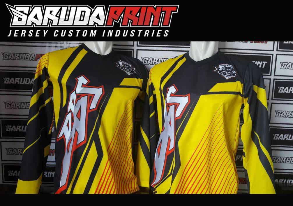 Baju Sepeda Full Print Motif Zig Zag Lengan Panjang Yang Trendy