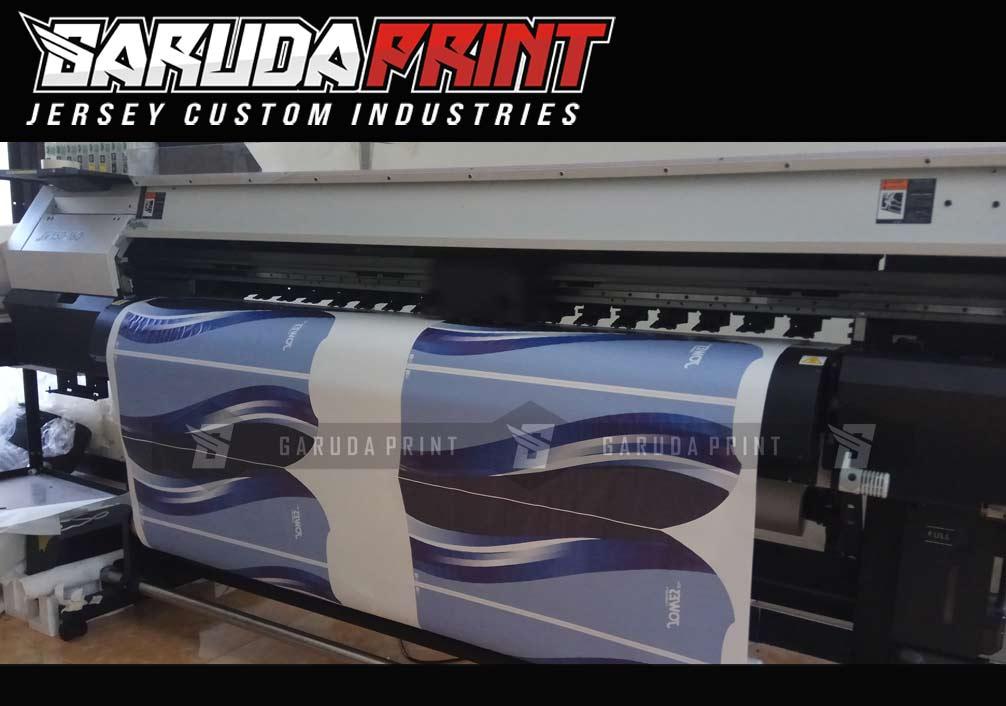 Kaos Sepeda Printing Lengan Pendek Warna Biru Yang Keren