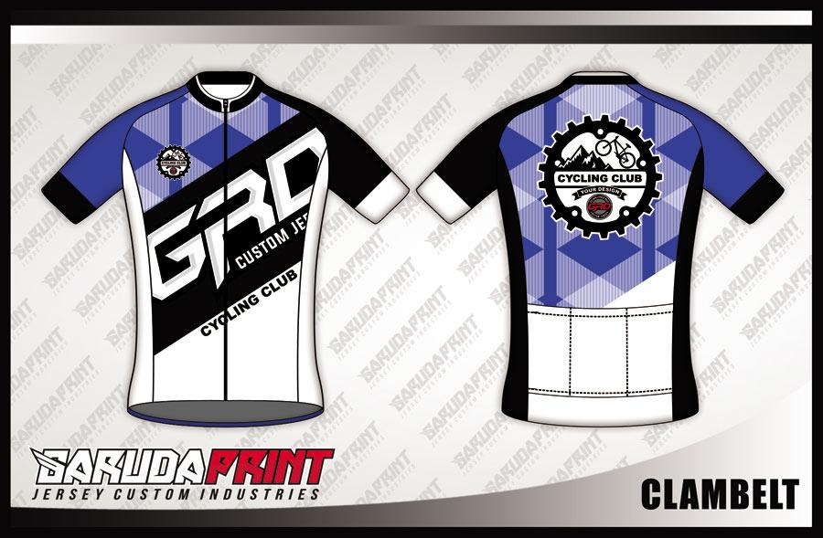 Kaos Sepeda Full Print Warna Ungu Putih Hitam Yang Keren Banget
