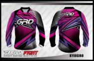 Jersey Sepeda Full Print Warna Ungu Motif Zig Zag Paling Keren