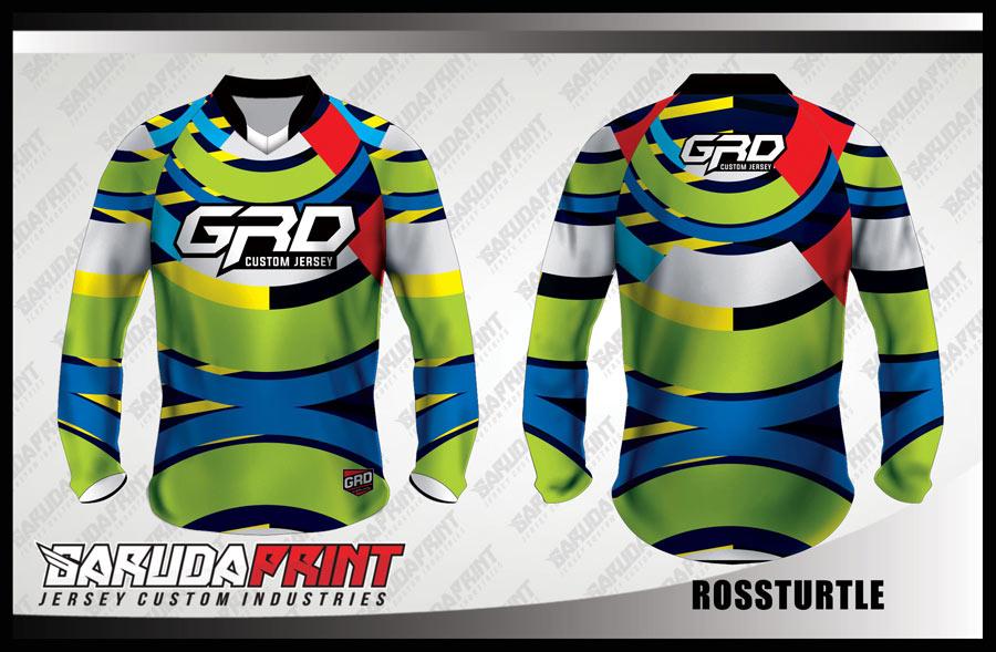 Jersey Sepeda Full Print Lengan Panjang Warna Hijau Tampil Beda