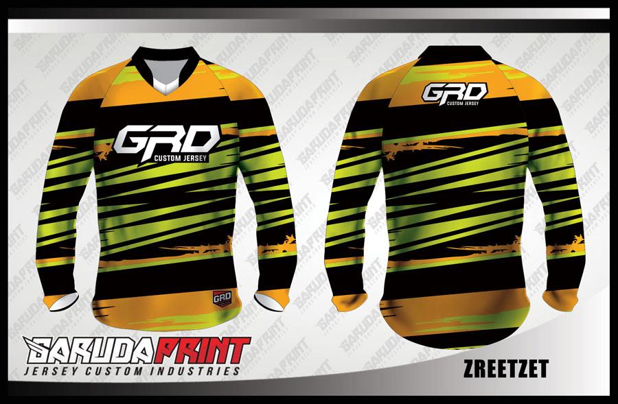 Baju Sepeda Custom Motif Zig Zag Kombinasi Warna Paling Keren