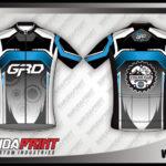 Desain Baju Sepeda dengan Resleting Depan (Gowes)