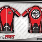Desain Jersey Sepeda Gowes Full Print merah