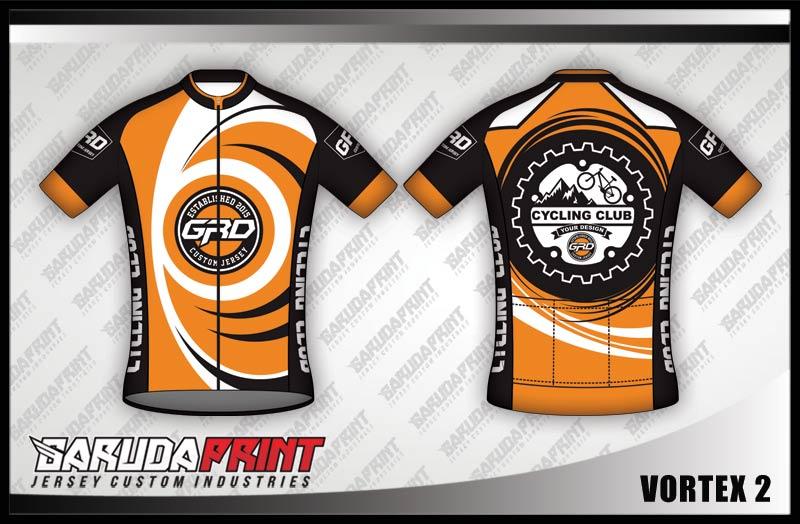 Desain Jersey Sepeda pakai Resleting (Gowes)