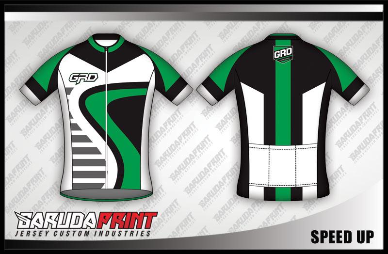desain Bikin Jersey Sepeda hijau