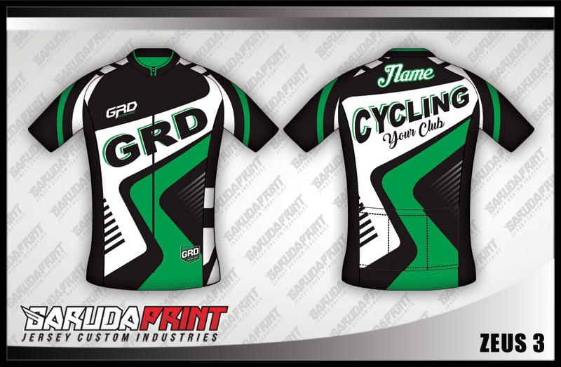 desain Kaos Sepeda dengan Resleting Depan (Gowes)