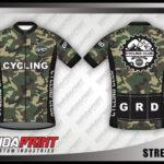 desain baju sepeda motif army