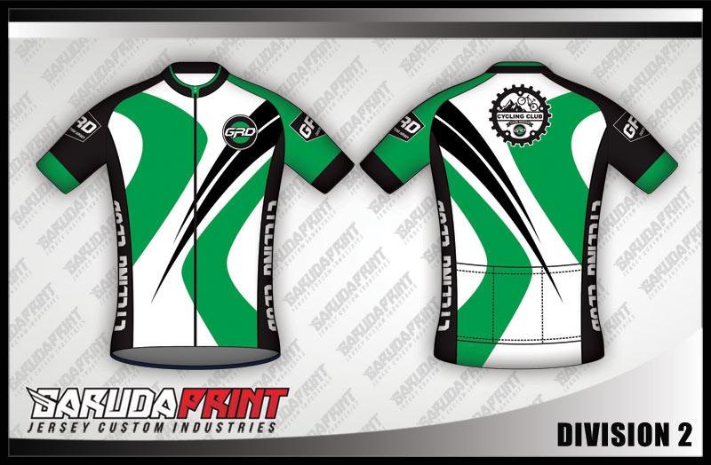 desain buat baju sepeda warna hijau