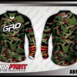 desain jersey sepeda custom printing model army