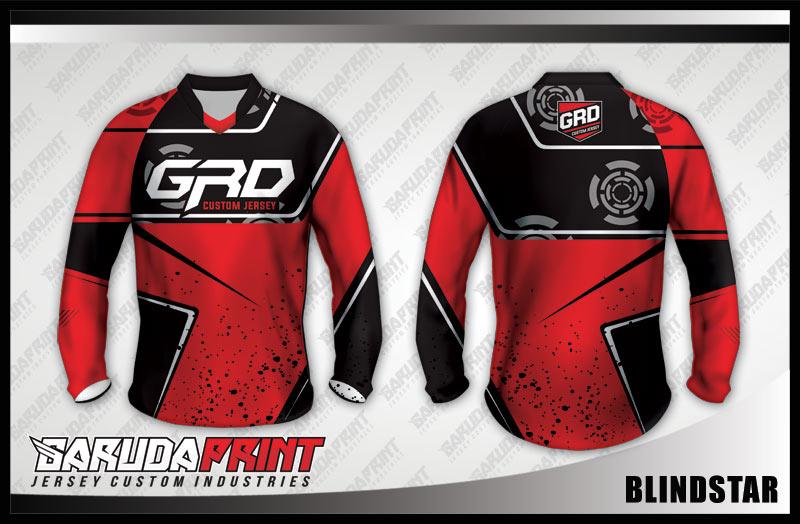 desain jersey sepeda downhill merah hitam