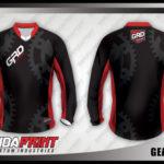 desain kaos sepeda downhill hitam merah