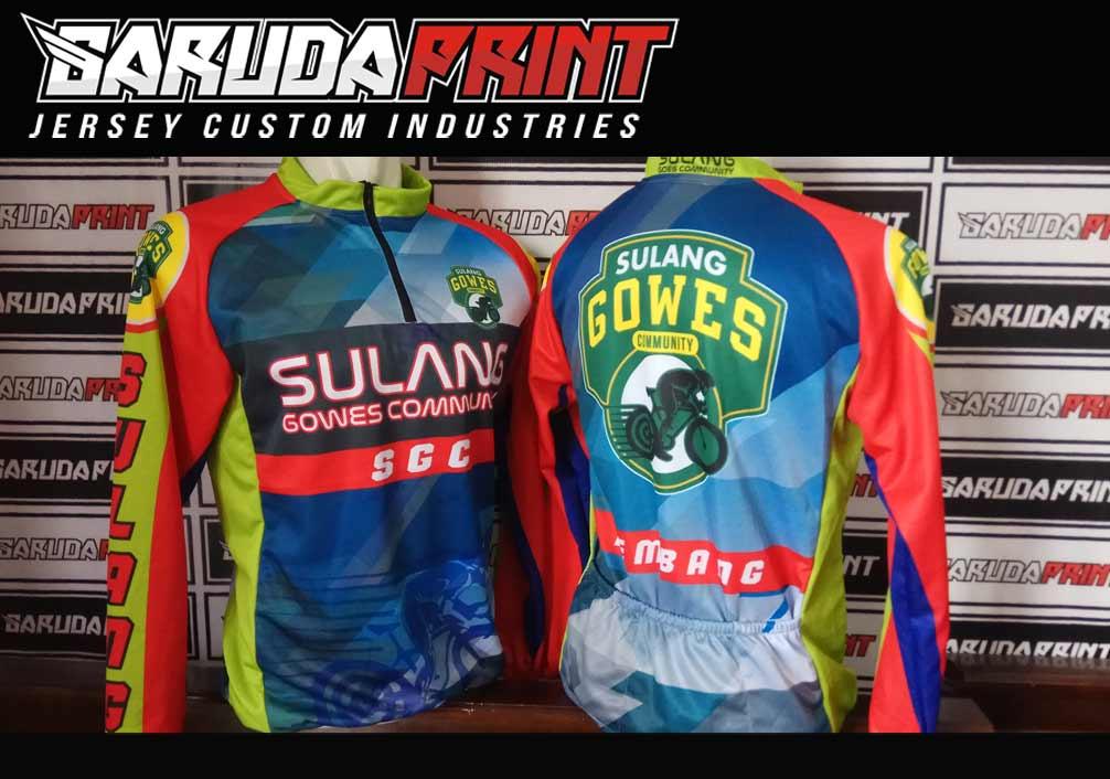 hasil produksi bikin baju sepeda gowes full print