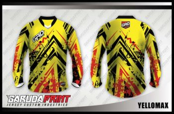 Desain Baju Jersey Sepeda MTB Yellowmax, Warna Kuning Elegant