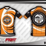 Desain Kaos Sepeda Gowes Vortex Paling Keren orange hitam