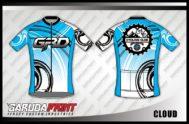 Desain Baju Sepeda Gowes Cloud Motif Variasi
