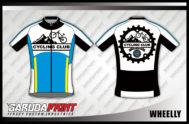 Desain Jersey Sepeda Gowes Kode Wheelly Bergaya Futuristik