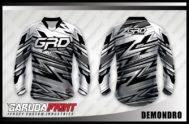 Desain Jersey Sepeda MTB Code Demondro Motif Zig Zag