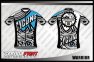 Desain Kaos Sepeda Gowes Code Warrior Motif Gahar