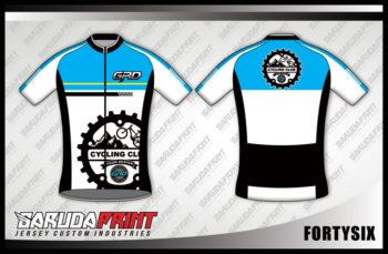 Desain Jersey Sepeda Gowes Code Fortysix Lengan Pendek