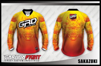 Desain Kaos Sepeda Downhill Code Sakazuki Sangat Elegan