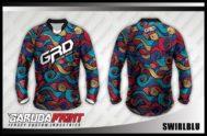 Desain Baju Sepeda MTB Swirlblu, Gelombang Sebiru Lautan
