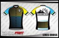 Desain Jersey Sepeda Road Bike Code Lines-Cross Tampil Fresh